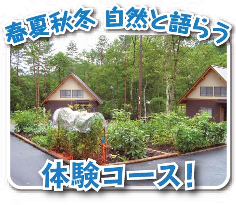 春夏秋冬 自然と語らう体験コース!